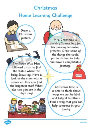 SCPS | T-T-24903-EYFS-Christmas-Home-Learning-Challenge-Sheet